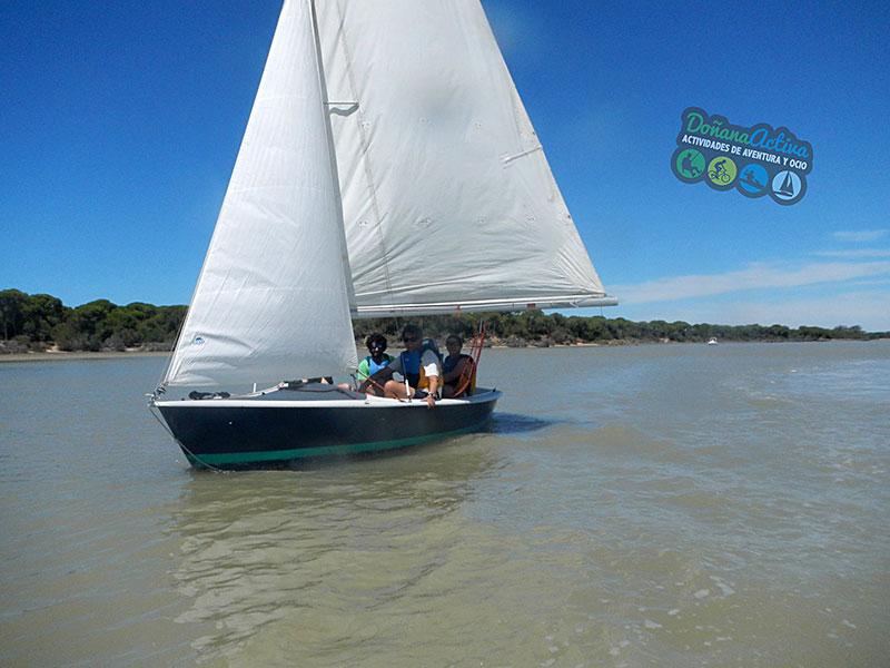 Paseo a vela por la desembocadura del Guadalquivir